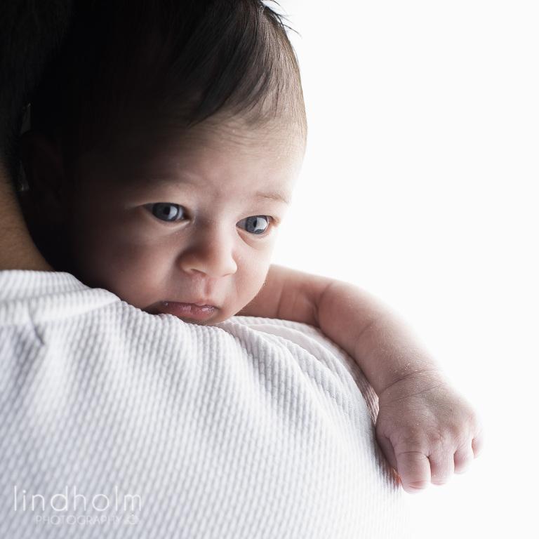 nyföddfotografering av nyfödd baby