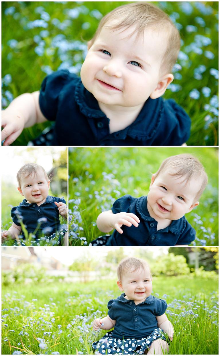 sittande bebis i gräset, sitting baby in grass, lindholmphotography.com
