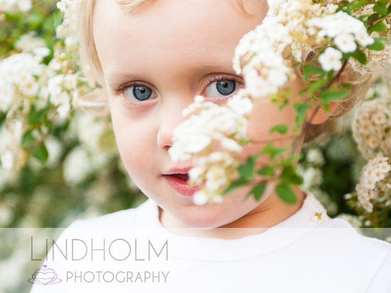 Barrfotografering utomhus i blommor. Lindholm photography fotograf i Tullinge Stockholm, terri lindholm