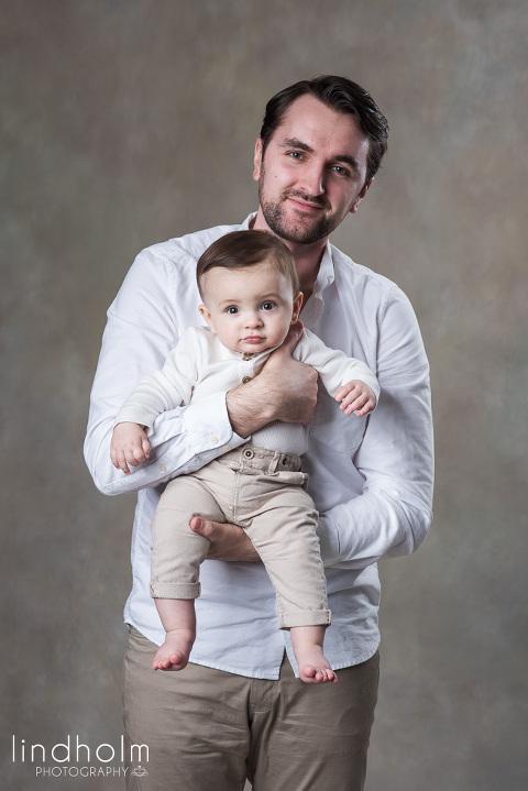 familjefoto med pappa